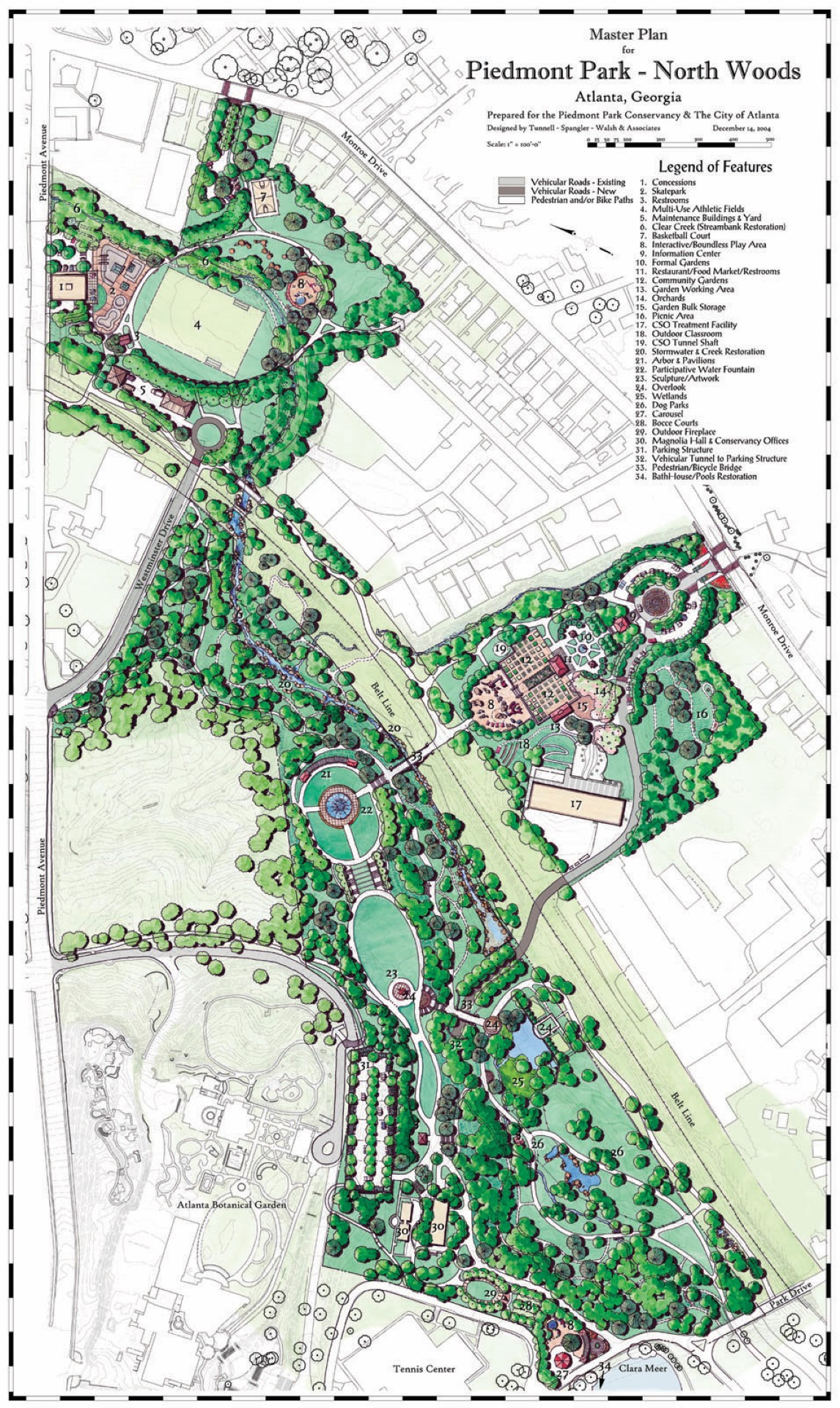 Piedmont Park North Woods Master Plan