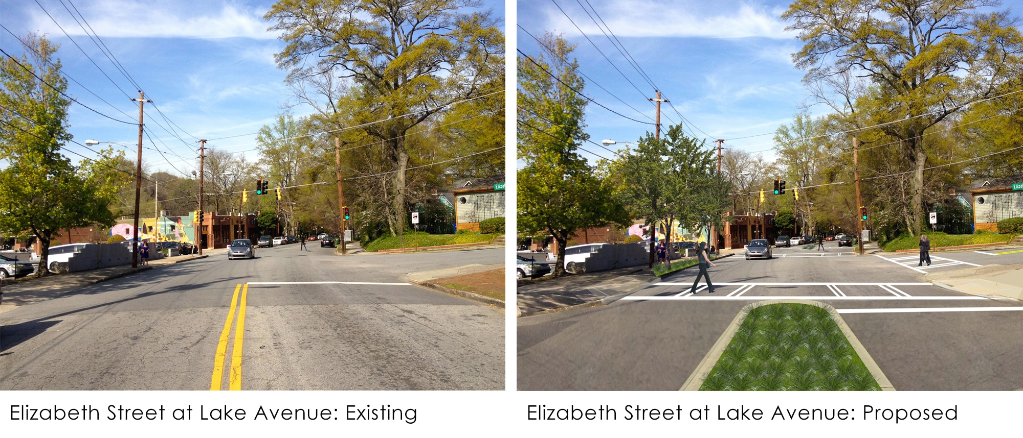 TSW ElizabethStreet_existing_proposed Old Fourth Ward/Inman Park Transportation Strategy Adopted In The News  TSW   TSW