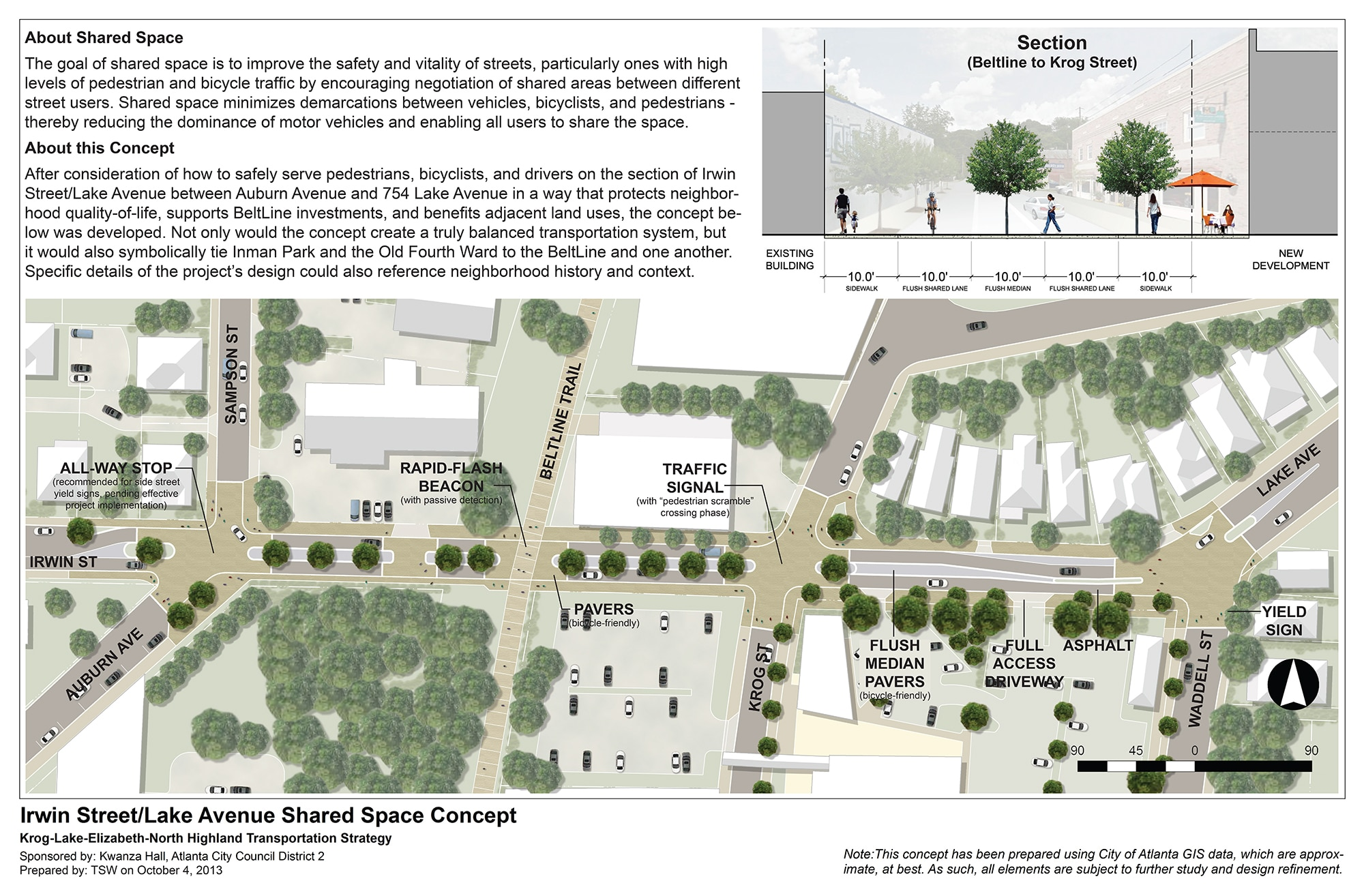 TSW IrwinLakeSharedSpaceBoard_Oct10_2013 Old Fourth Ward/Inman Park Transportation Strategy Adopted In The News  TSW   TSW