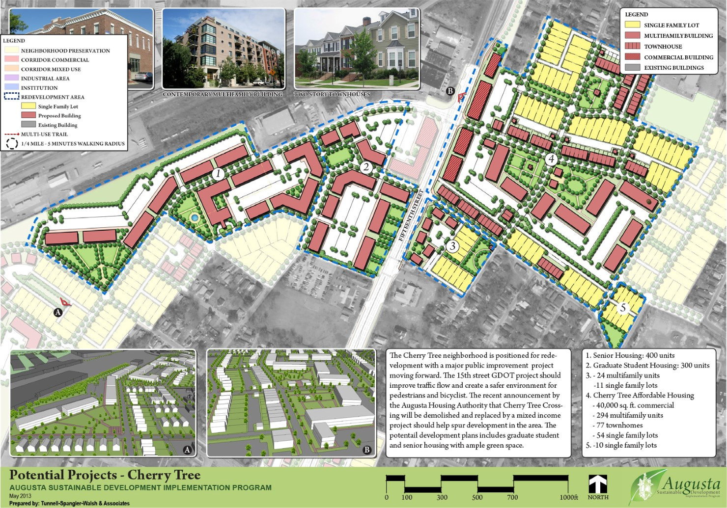 TSW Augusta_2 Augusta Sustainable Development Implementation Program: Cherry Tree Crossing Redevelopment    TSW