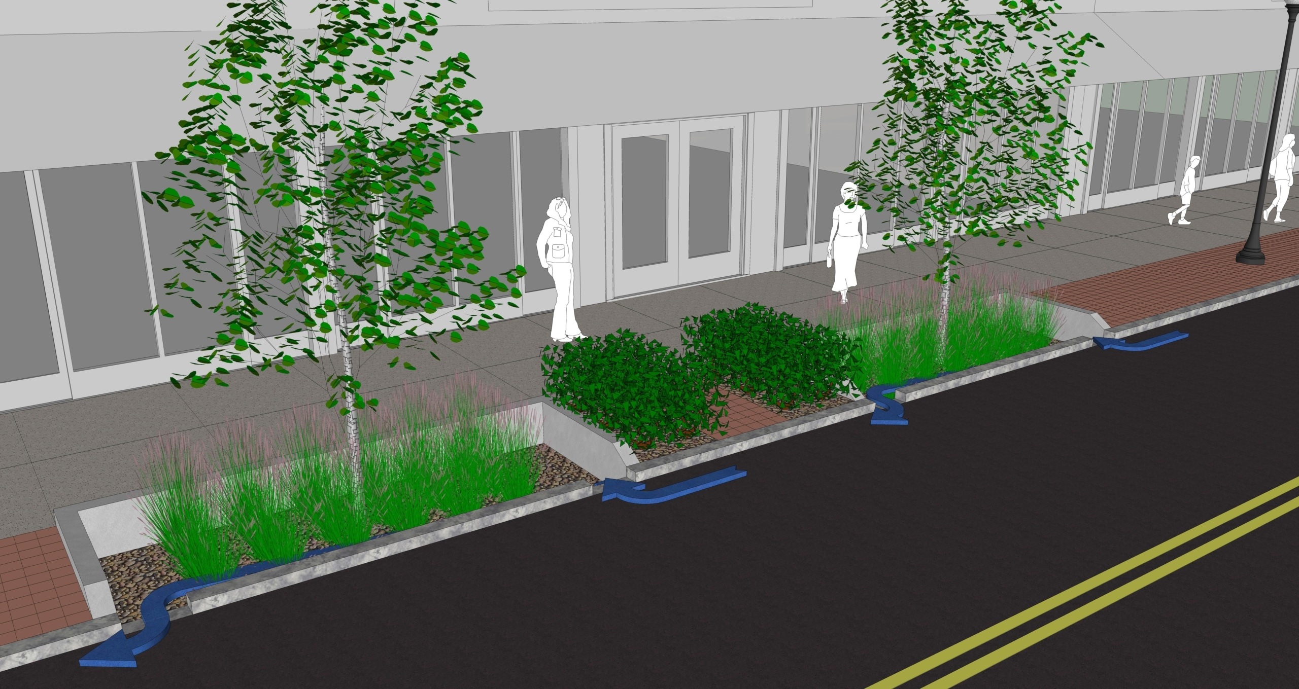 TSW Bioswale Juniper Street Bioswale Testing Begins Soon Landscape Architecture Sustainable Design  stormwater management streetscape midtown alliance TSW Midtown Atlanta Juniper Street Bioswale   TSW