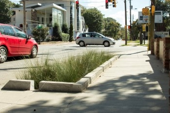 TSW JuniperStreeBioSwale Juniper Street Bioswale Testing Begins Soon Landscape Architecture Sustainable Design  stormwater management streetscape midtown alliance TSW Midtown Atlanta Juniper Street Bioswale   TSW