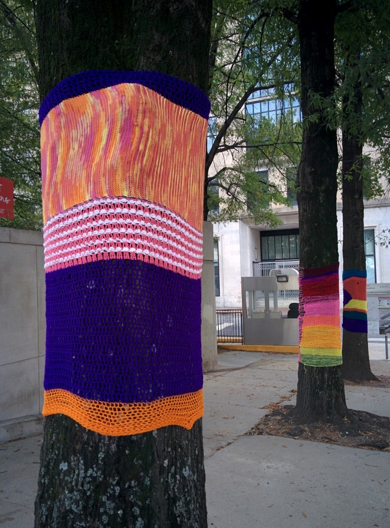 TSW IMG_20161112_115659 Yarn Bombing at 5 Points MARTA Station Landscape Architecture Volunteering Giving Back  Urban Knitting Street Art Giving Back #KnitShowOnBroad five points MARTA station yarn bombing TSW   TSW