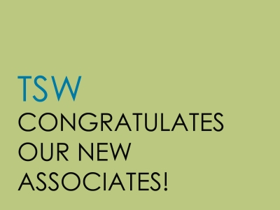 TSW Associates_featured_image-400x300 TSW Congratulates Our New Associates! In The News  senior associates associates promotions TSW   TSW