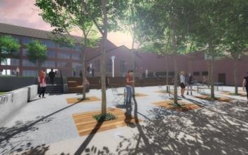 Georgia Tech Hinman Courtyard