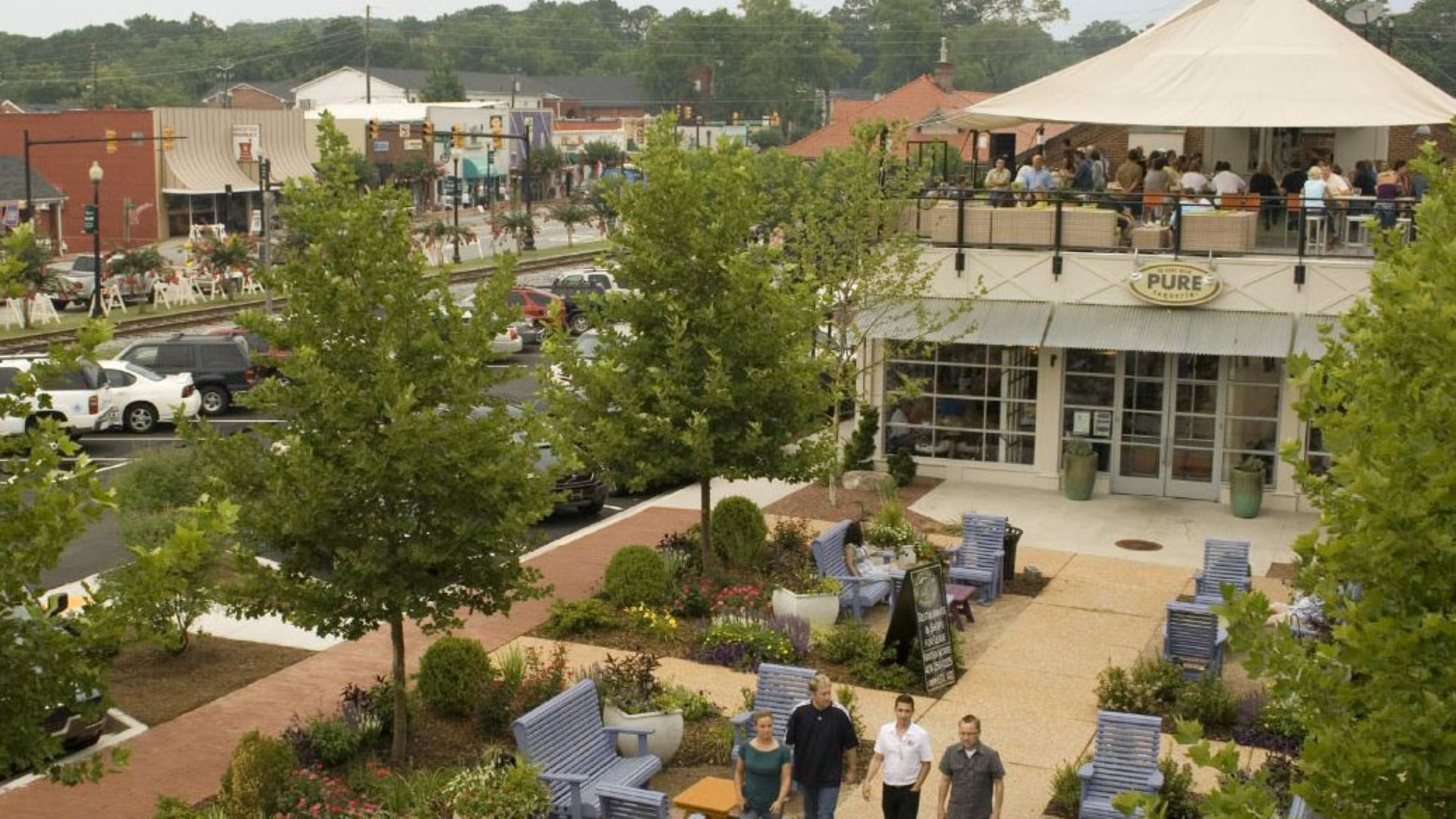 Woodstock Downtown Plaza, Streetscapes and Trails