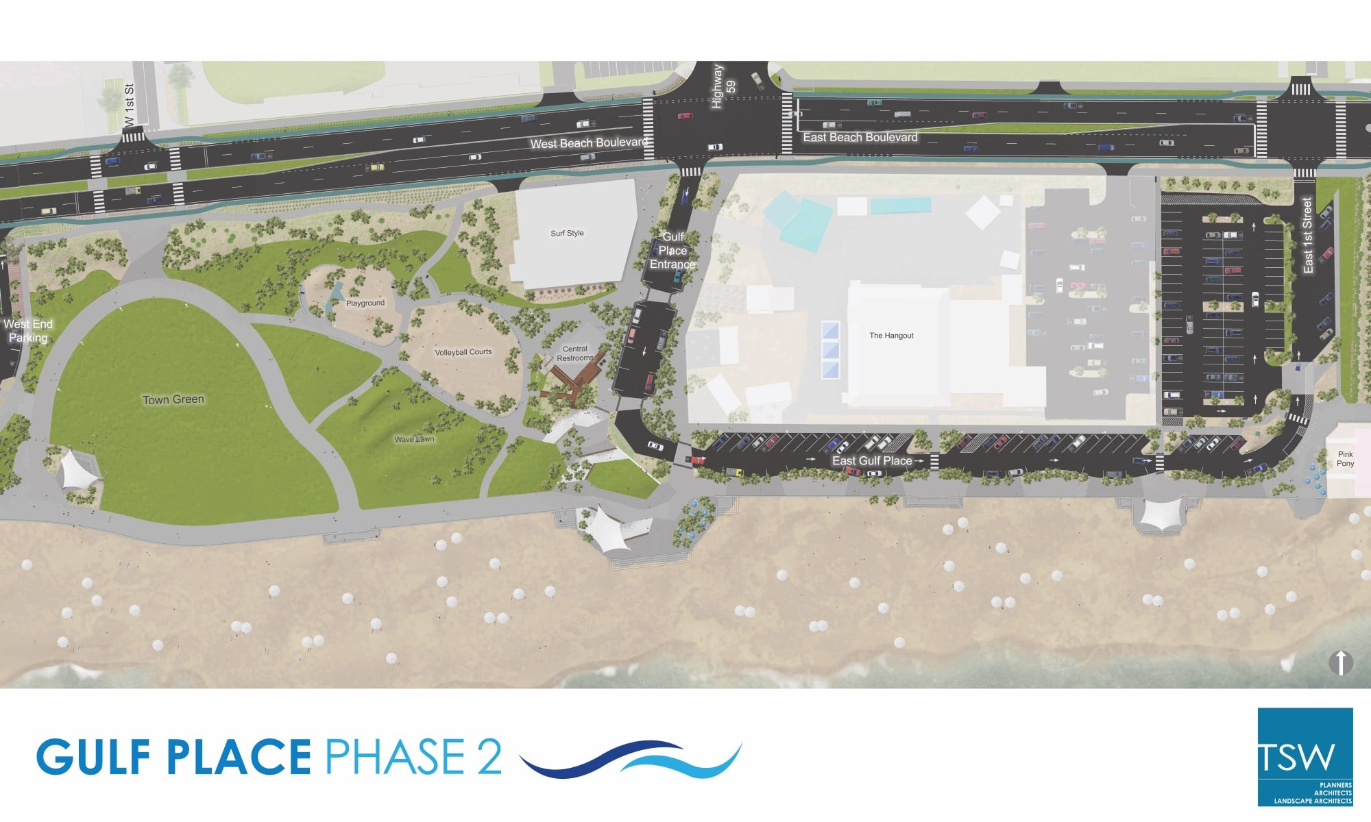 TSW 2017.09.06-Plan Gulf Shores Begins Phase II of Public Beach Transformation In The News Landscape Architecture Planning Sustainable Design  Habitat Environment Public Private Partnership Public Park Urban Design Southeast complete streets resilient coastal waterfront Waterfront Development Revitalization Low Impact Development Gulf Place TSW redevelopment   TSW