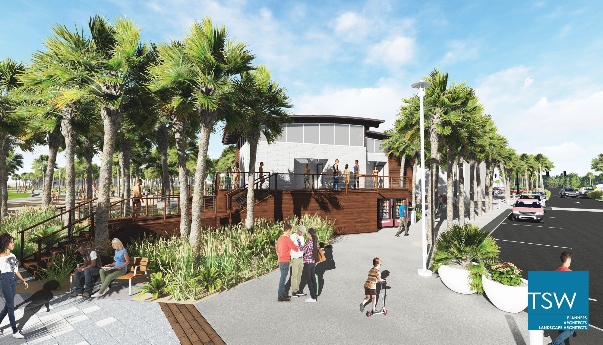 TSW 2017.09.6-Phase-2-Marketing-Images12 Gulf Shores Begins Phase II of Public Beach Transformation In The News Landscape Architecture Planning Sustainable Design  Habitat Environment Public Private Partnership Public Park Urban Design Southeast complete streets resilient coastal waterfront Waterfront Development Revitalization Low Impact Development Gulf Place TSW redevelopment   TSW