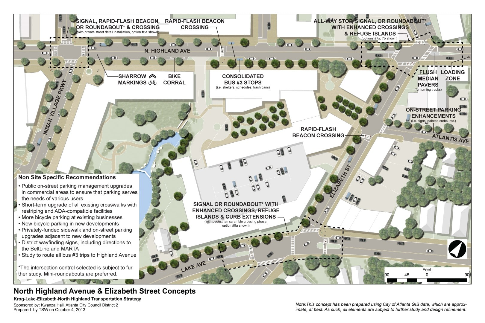 TSW Krog-Lake-Elizabeth-North-Highland-Transportation-Strategy-006 North Avenue Park at City Hall East    TSW