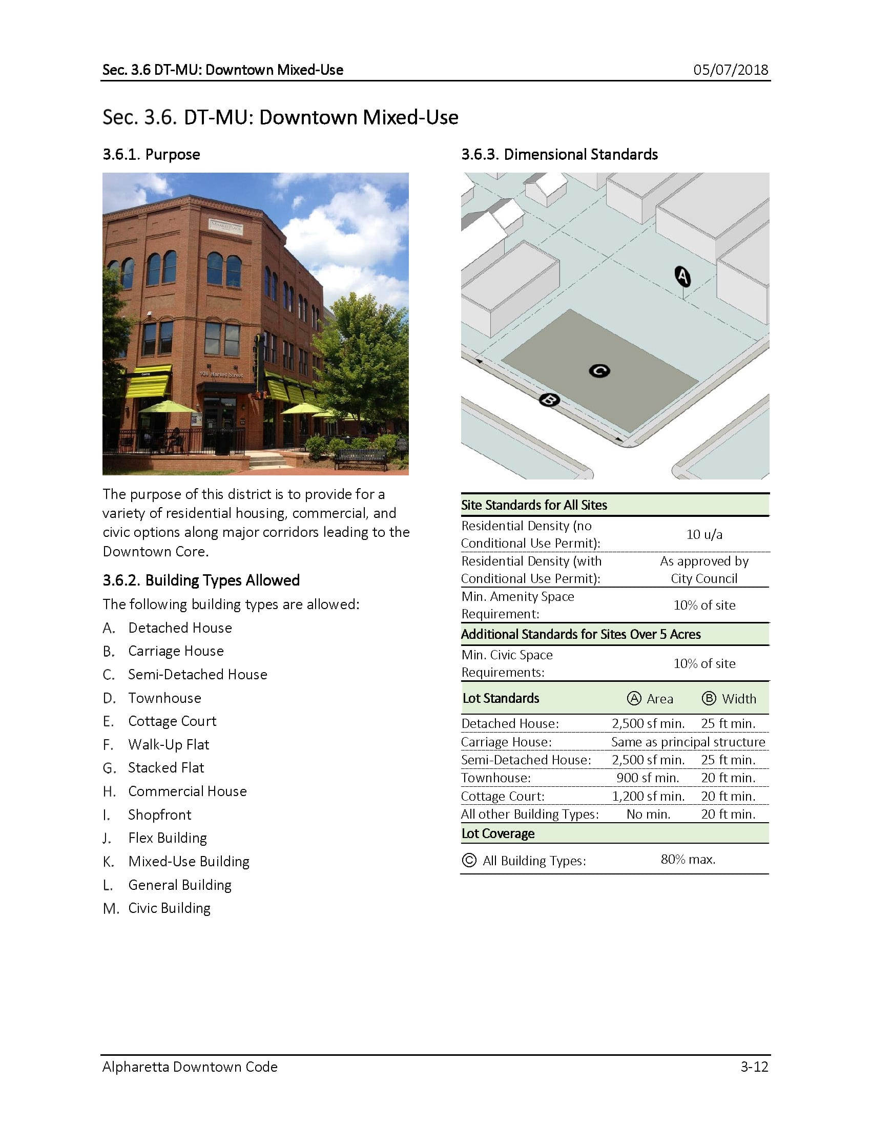 TSW AlpharettaCode-3 Alpharetta Downtown Design Guidelines    TSW