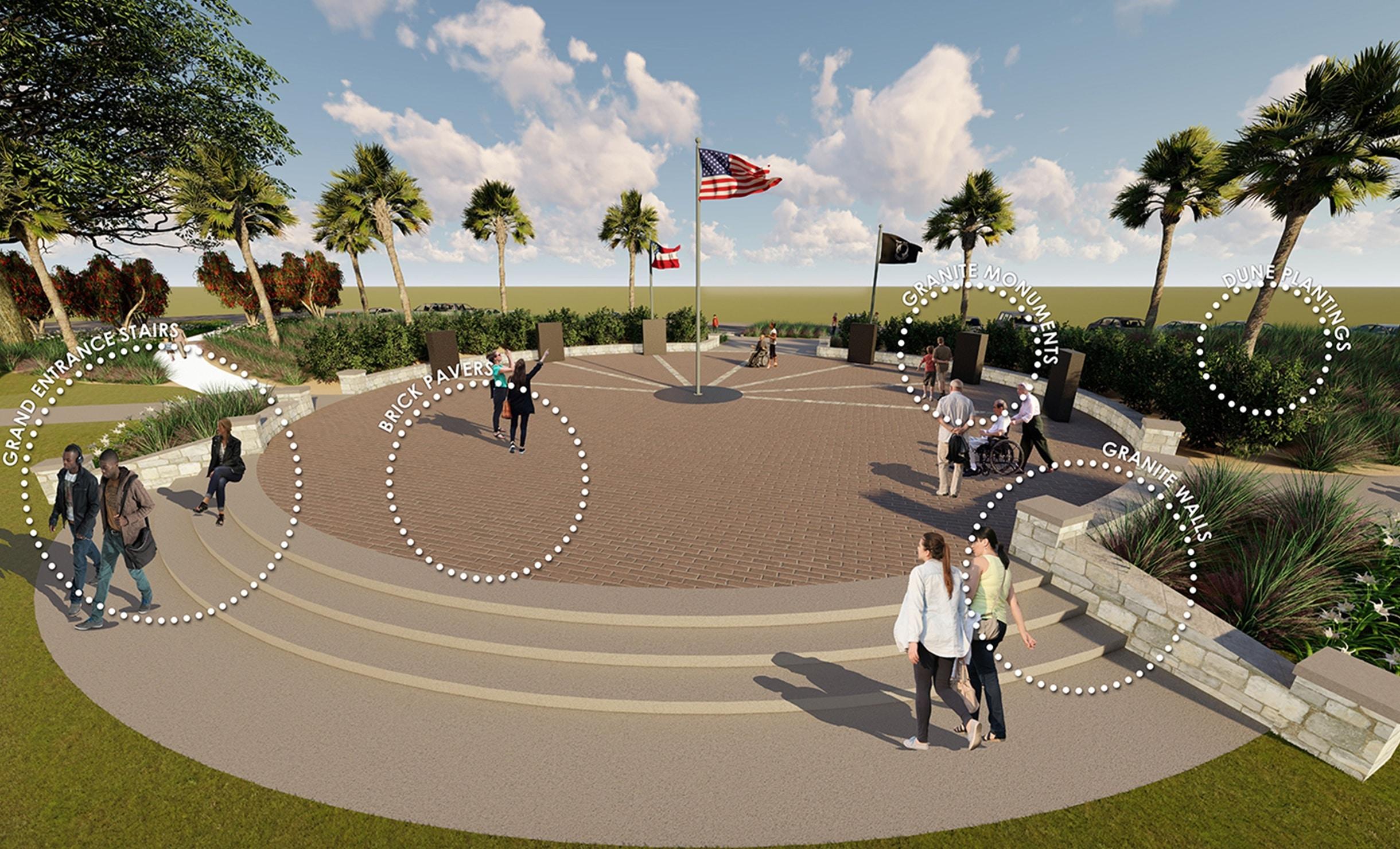 Construction Progress: Glynn County Veterans Memorial Park