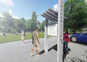 Club Drive Park Environmental Kiosks
