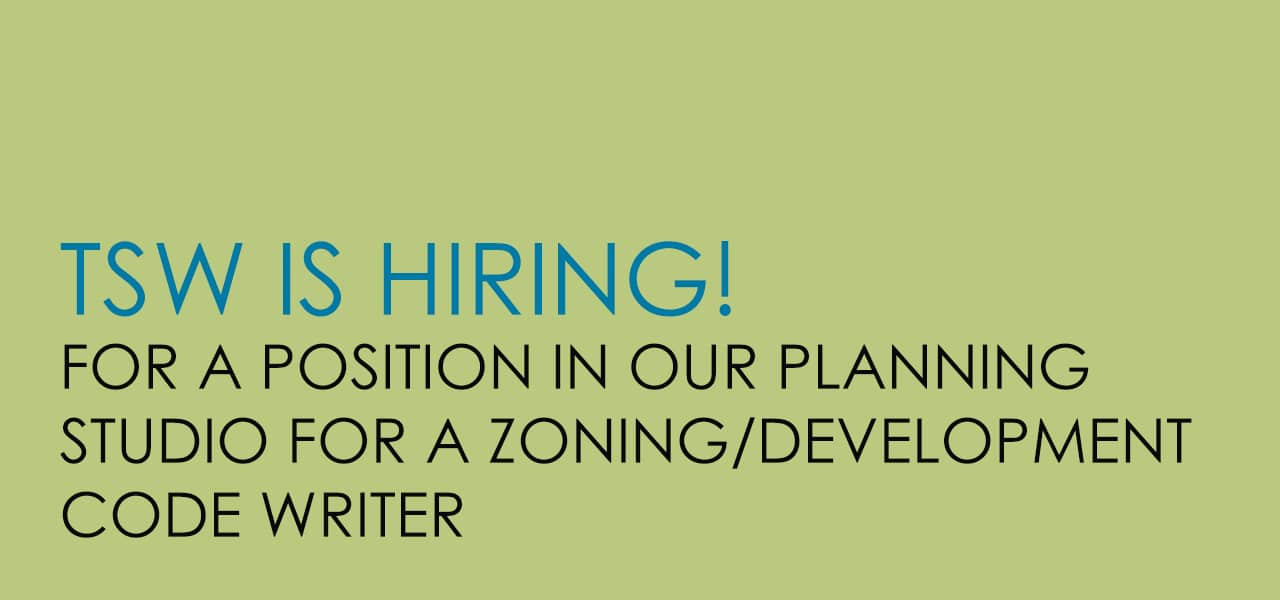Zoning Development Code Writer Job Posting