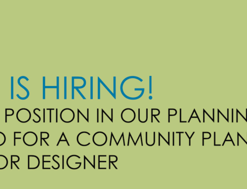 COMMUNITY PLANNER and/or DESIGNER with 2-5 years of experience