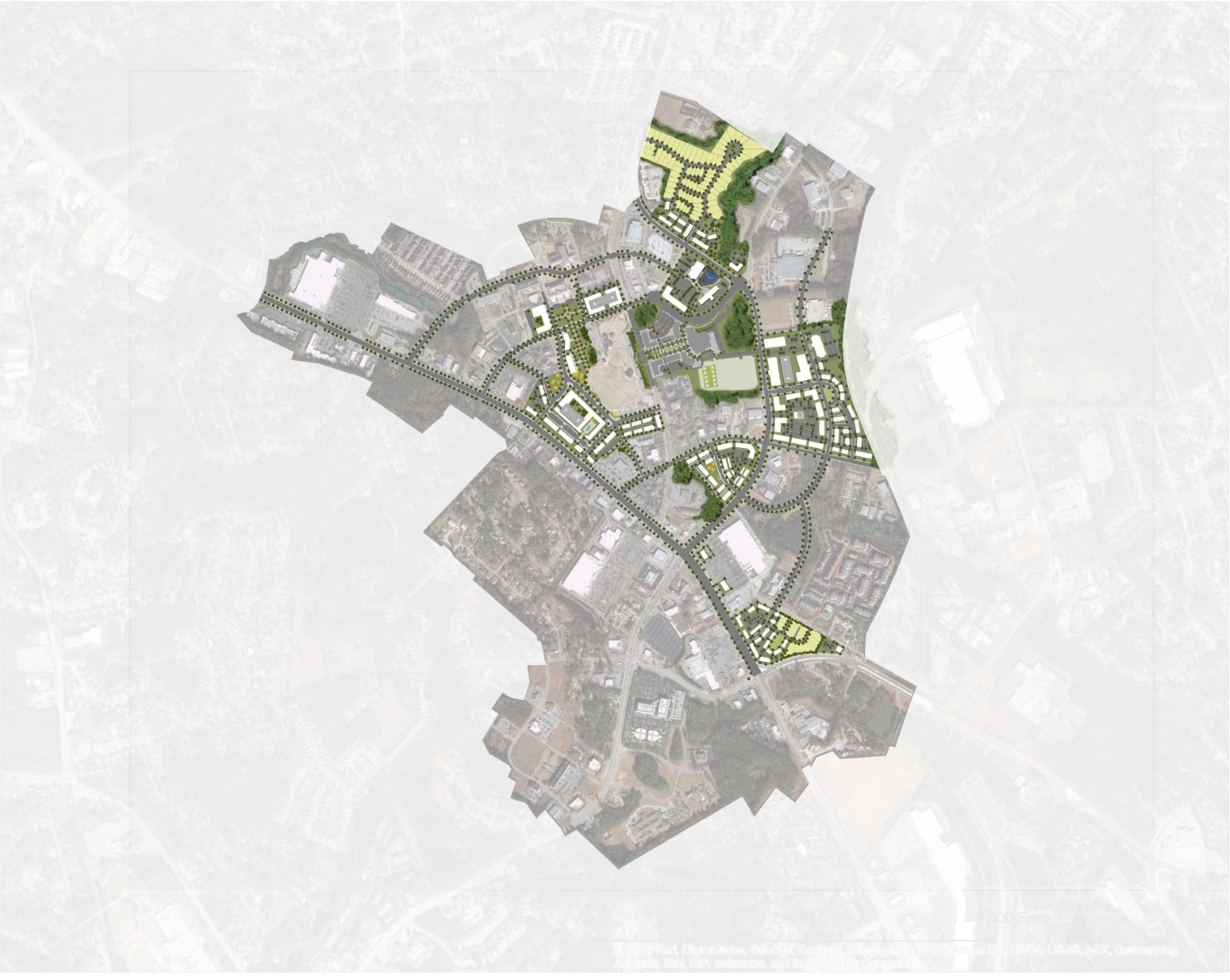 TSW Evans-Town-Center-Urban-Design-Plan-2 Evans Town Center - Urban Design Plan    TSW