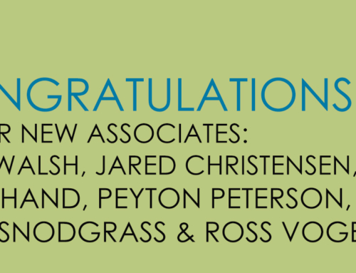 TSW Congratulates Our New Associates!