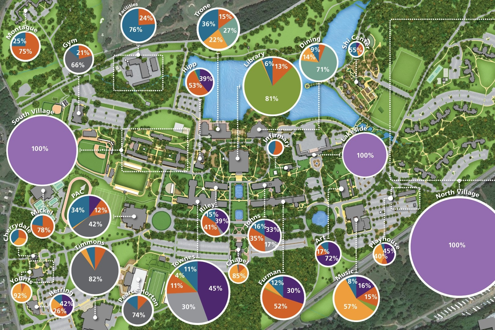 furman university campus map Tsw Furman University Space Analysis Plan furman university campus map