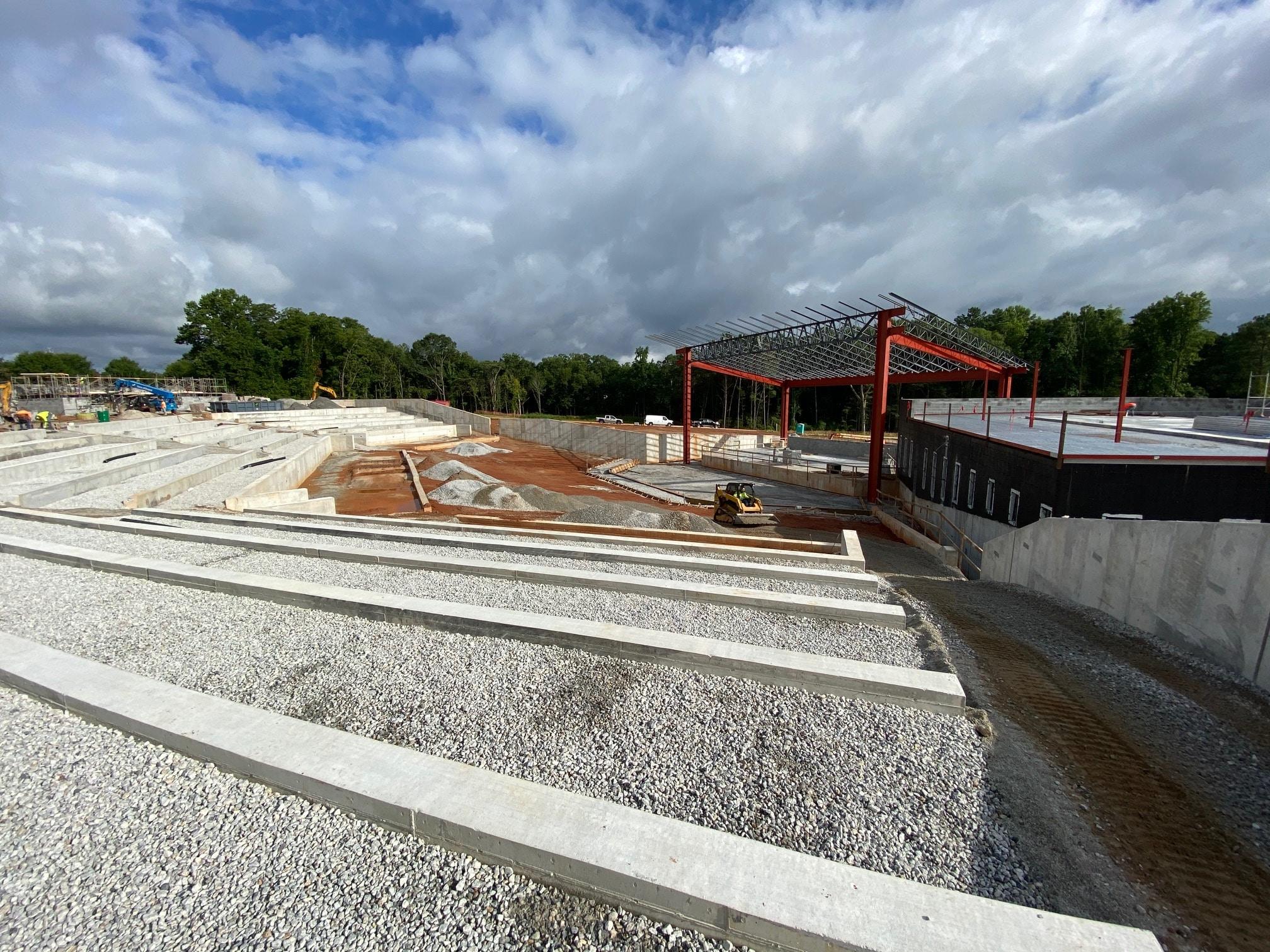 Stockbridge Amphitheater Update Construction Shot