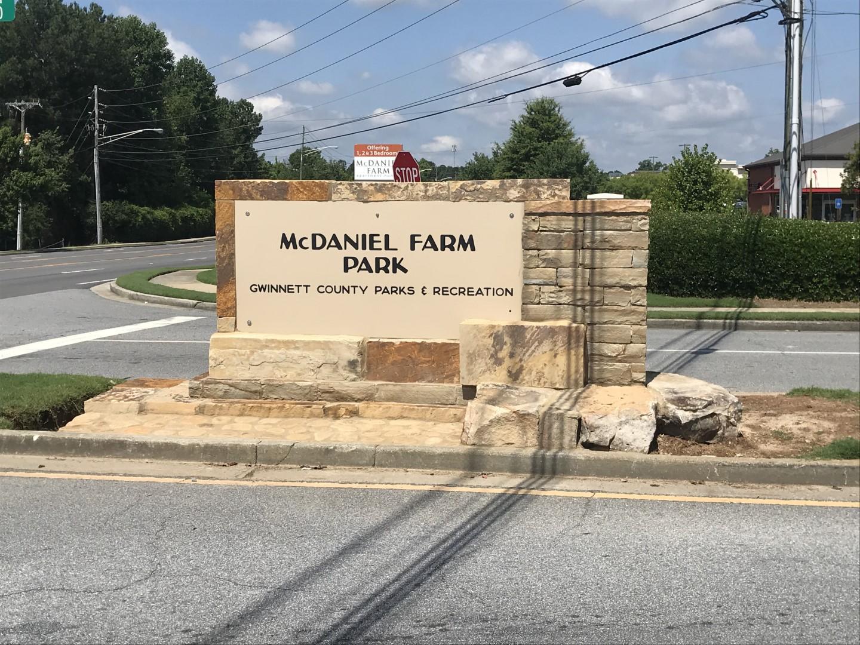 McDaniel Farm Park Entry Sign