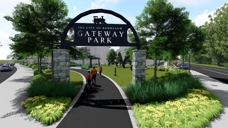 TSW Kennesaw-Gateway-Park-Sign_000 LANDSCAPE ARCHITECTURE    TSW