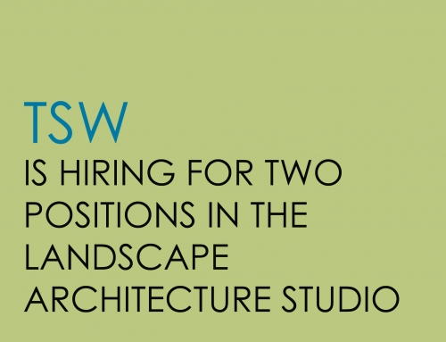 Open Positions in the Landscape Architecture Studio