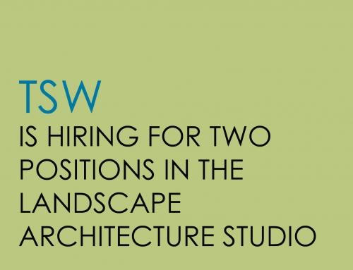 Open Positions in the Landscape Architecture Studio