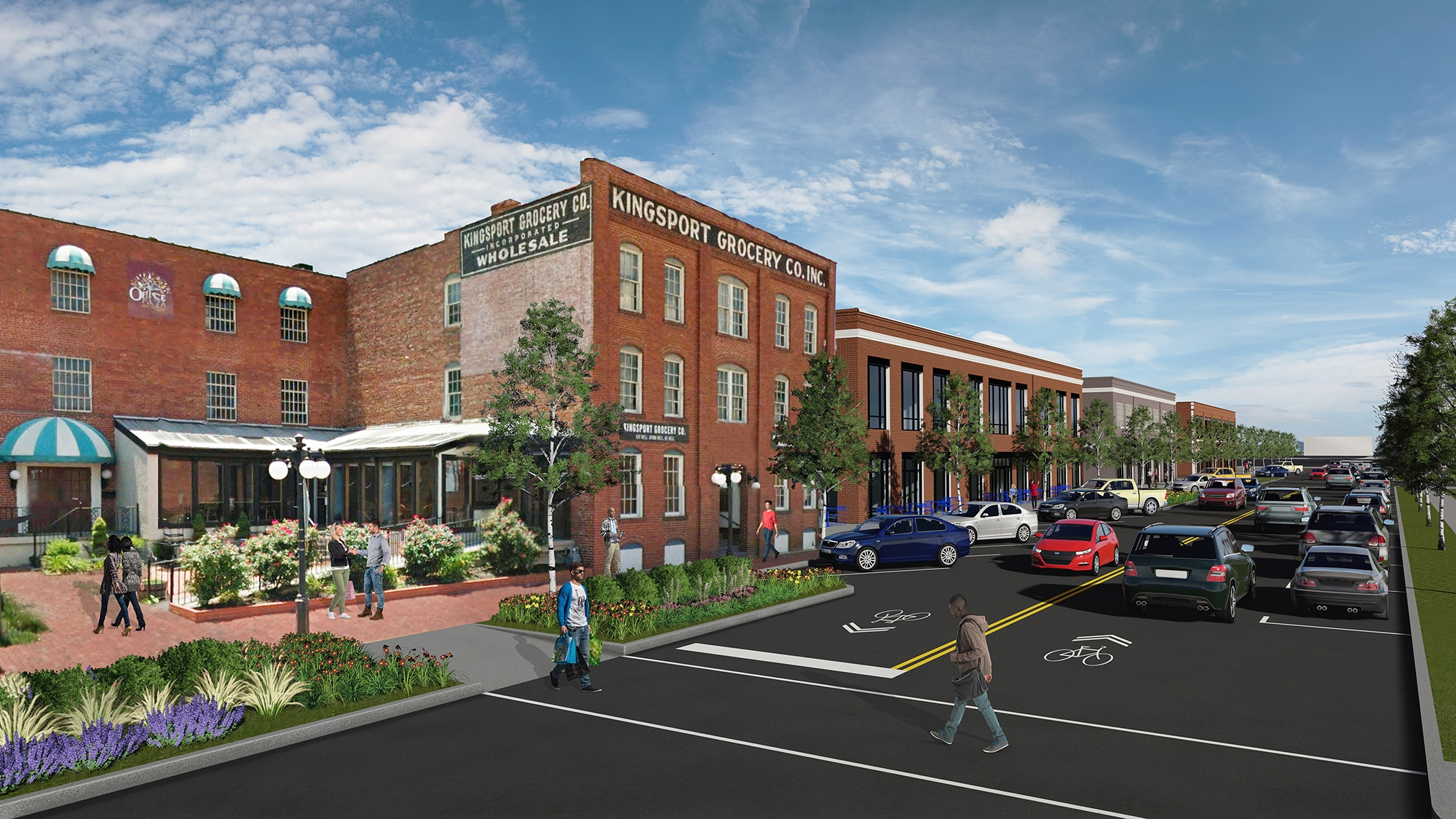 TSW Main-Street-Rendering TSW's Adam Williamson to Present at TAPA Annual Conference Planning  Tennessee American Planning Association Annual Conference TAPA Downtown Master Planning Kingsport Adam Williamson   TSW