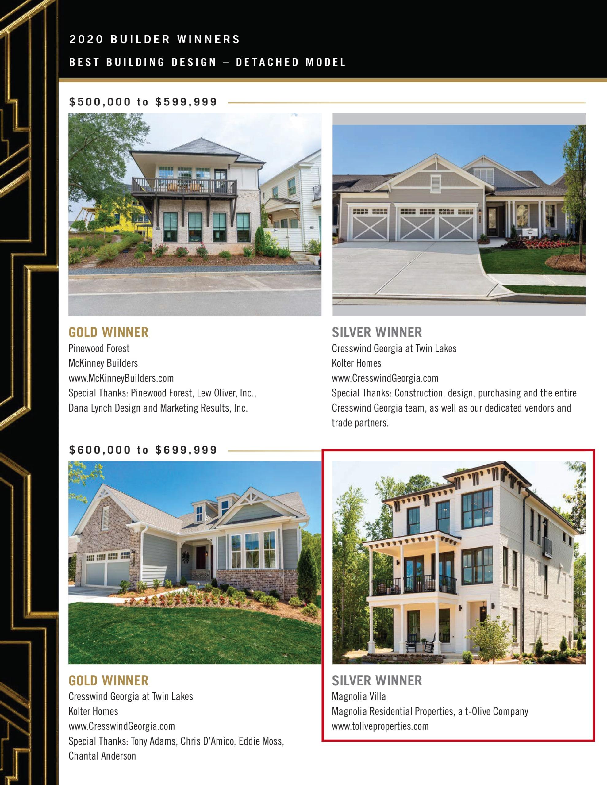 Villa Magnolia Obie Award Winning Home