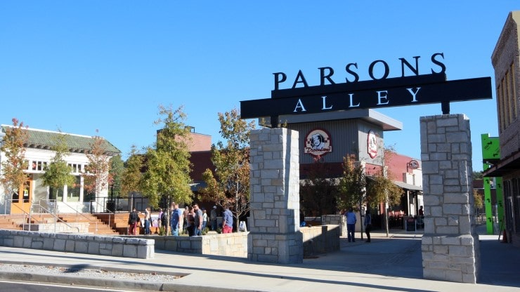 Place Based Branding Parsons Alley Signage by TSW's Landscape Architecture Studio