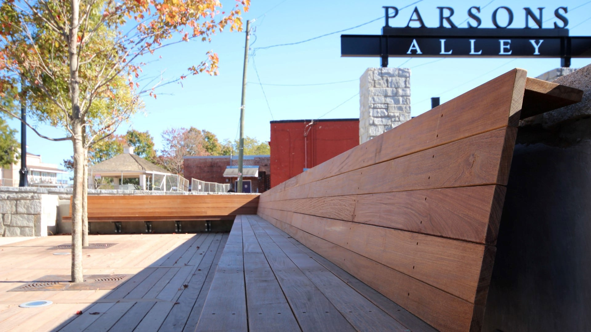 Place Based Branding Parsons Alley Signage environmental graphics