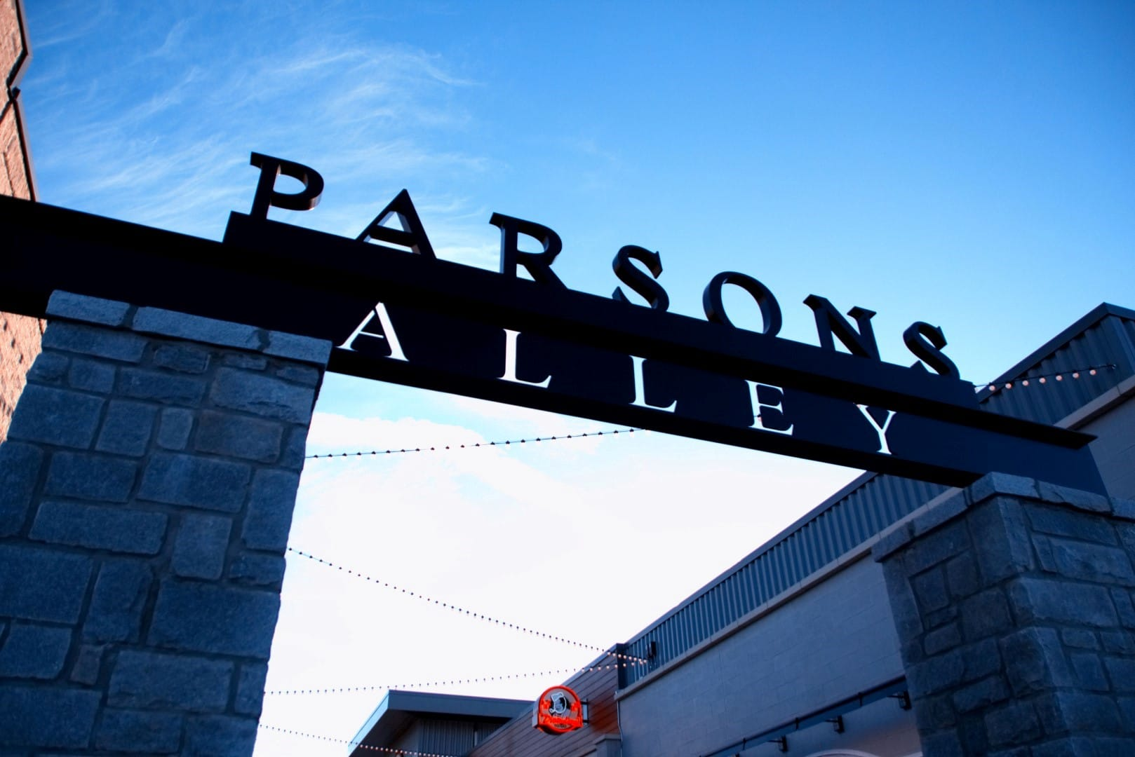 Place Based Branding Parsons Alley Signage