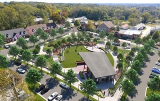 Powder Springs Downtown Green Space by TSW's Landscape Architecture Studio