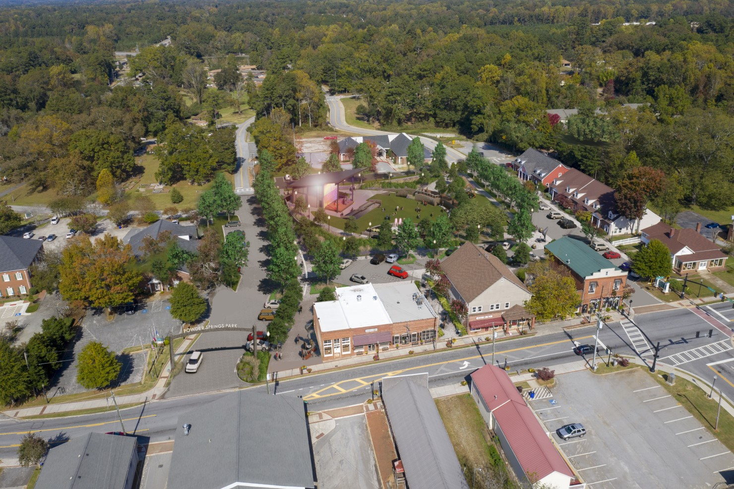 Powder Springs Downtown Green Space