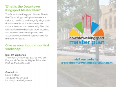 TSW Public-Marketing-10.19.17_Web-400x300 Downtown Kingsport Master Plan Kick-off Planning  Master Plan Southeast kick-off workshop Kingsport TSW   TSW