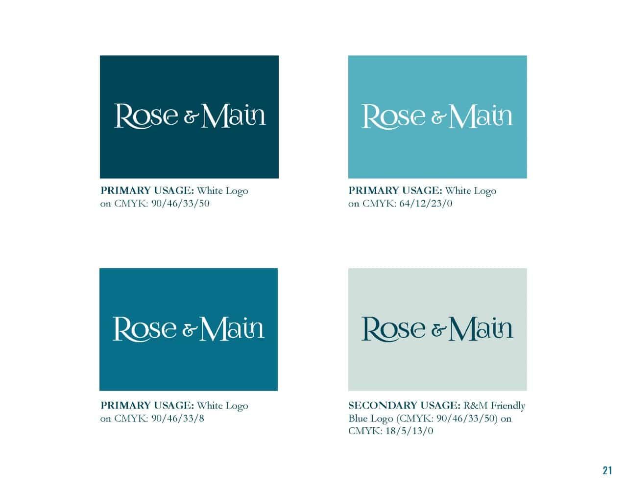 Rose & Main Brand Standards - Place Based Branding Logo Colors