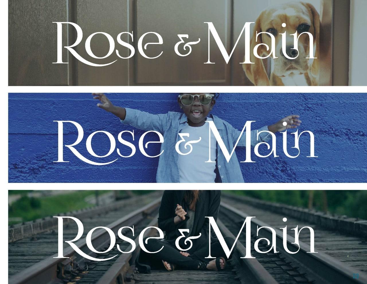 Rose & Main Brand Standards - Place Based Branding Logo Usage