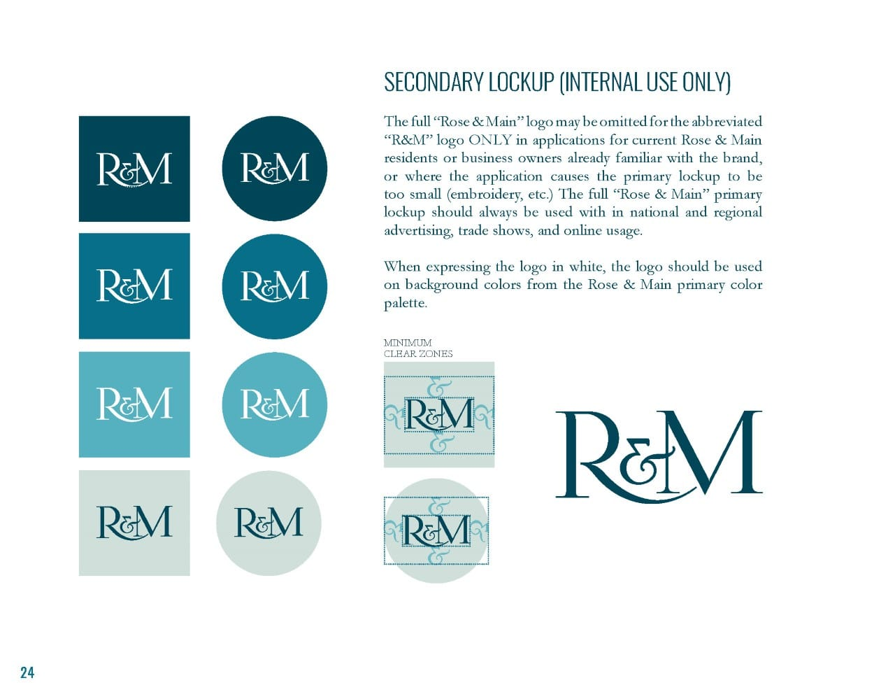 Rose & Main Brand Standards - Place Based Branding Secondary Logo