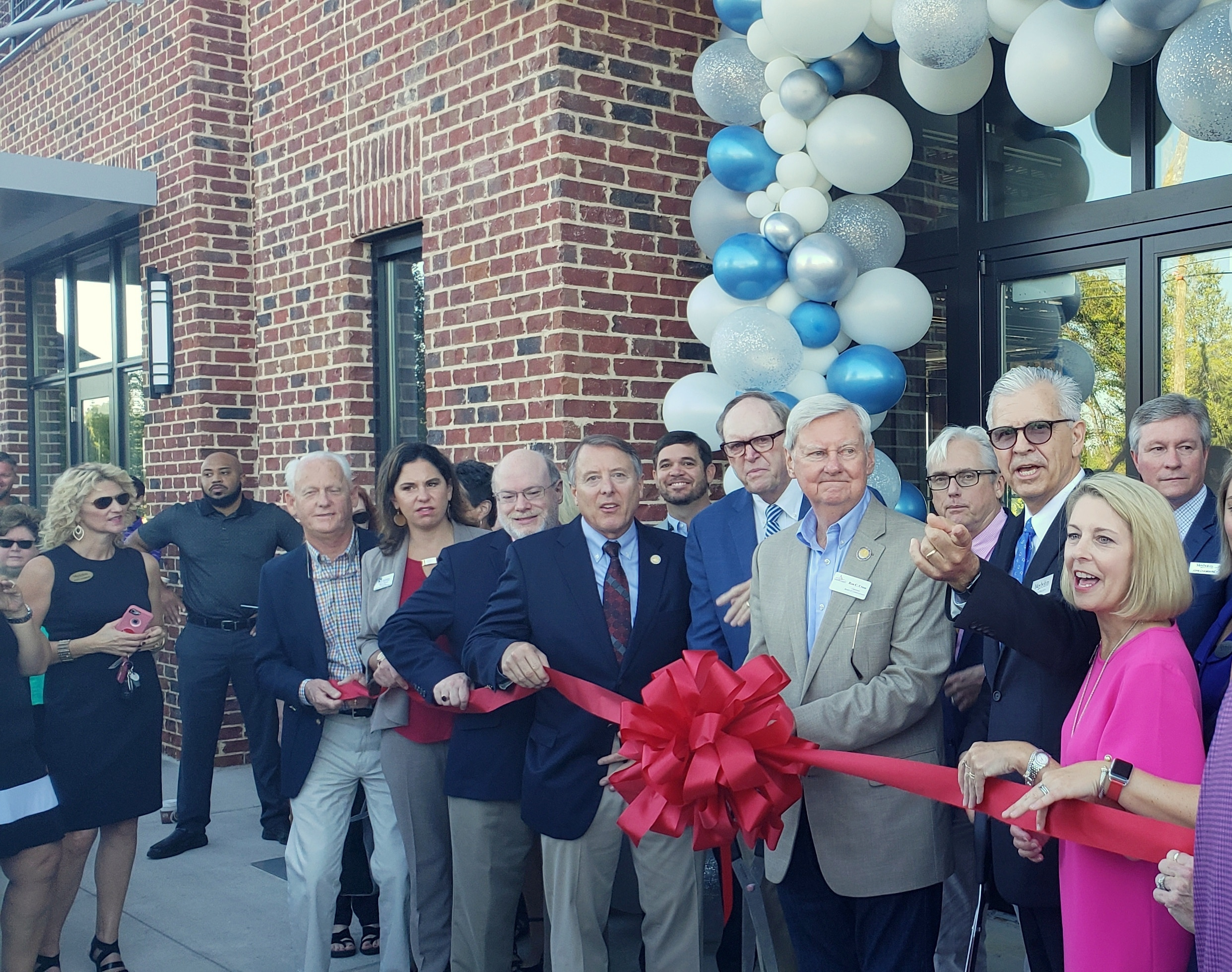 TSW TSW-Meybohm-Building-Ribbon-Cutting-2018 Meybohm Building Ribbon-Cutting Architecture In The News Landscape Architecture  ribbon-cutting The Plaza at Evans Towne Center Columbia County Meybohm   TSW