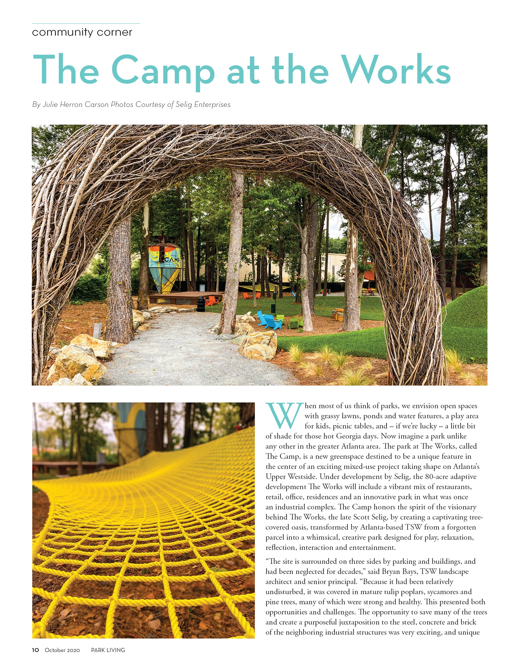 The Camp at The Works – We Call Dibs on the Hammock!