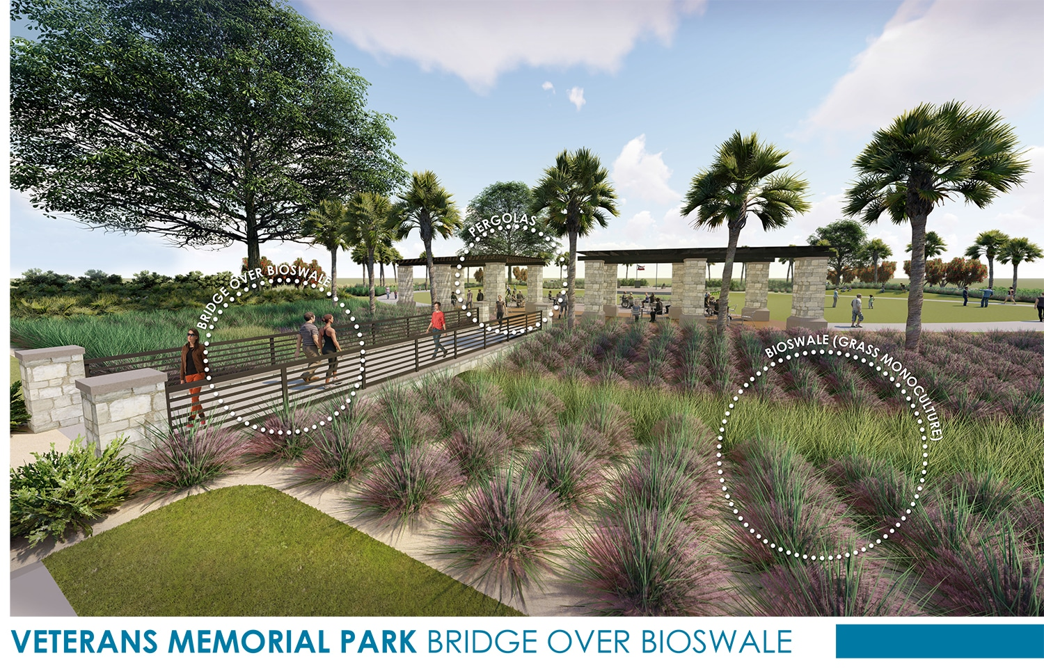 TSW Veterans_Memorial_4 Veterans Memorial Park Concept In The News Landscape Architecture Sustainable Design  Amphitheater Veterans Memorial Brunswick Glynn County TSW Bioswale   TSW