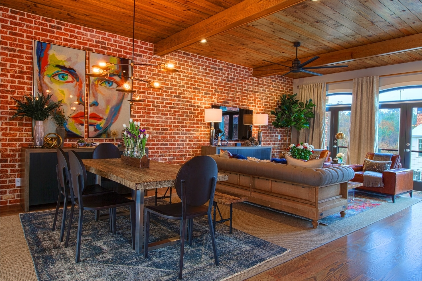 Westside Station Interior Living Room Townhomes