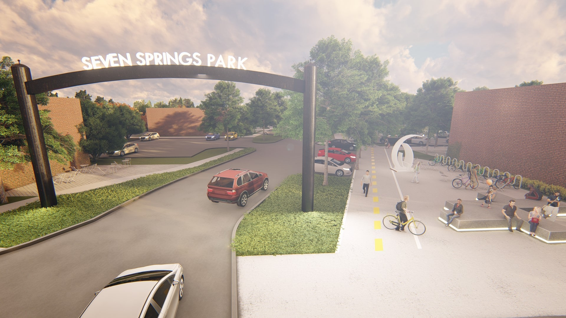 Place Based Branding City of Powder Springs Town Green & Gateway Sign